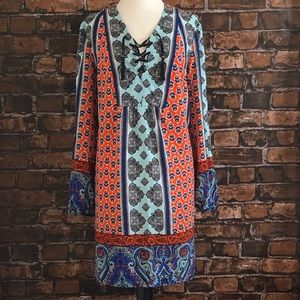 Gibson Latimer Peasant Boho Dress